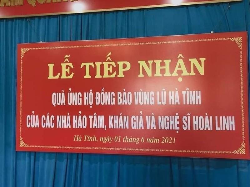 Dai dien NSUT Hoai Linh da trao 9 ty cho 4 tinh mien Trung
