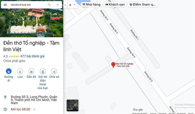 Su that Den tho To nghiep cua Hoai Linh bi Google Maps doi ten-Hinh-3