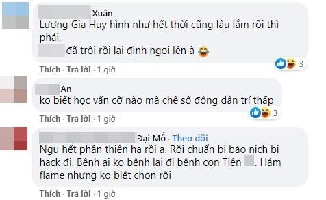 Luong Gia Huy bi chi trich khi bao ve Thuy Tien, che