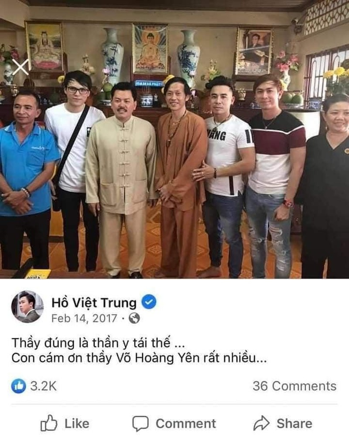 Ho Viet Trung tang boc Vo Hoang Yen: