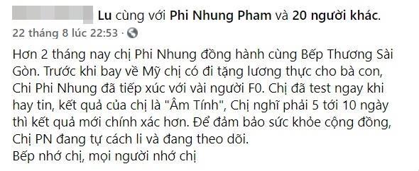 Sau tin don nhiem COVID-19, Phi Nhung xac nhan tiep xuc vai F0-Hinh-3