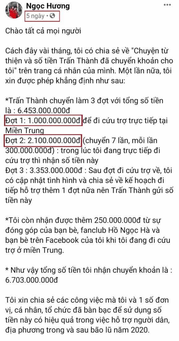 Me Ho Ngoc Ha bi soi diem bat thuong tien quyen gop tu thien-Hinh-3