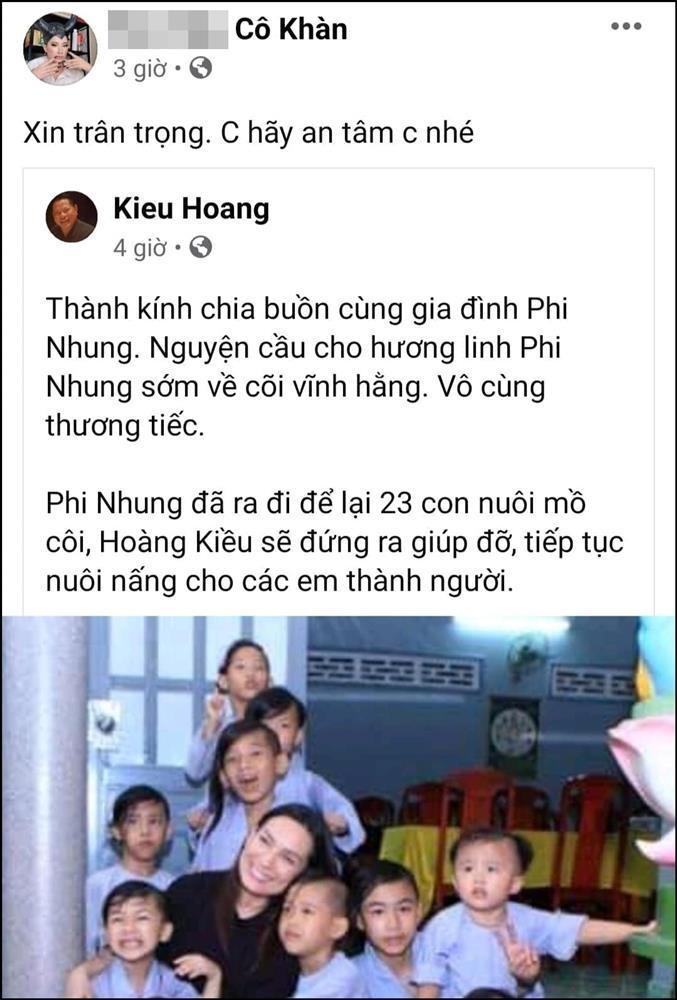 Hoang Kieu nhan nuoi 23 con Phi Nhung, Trang Tran noi