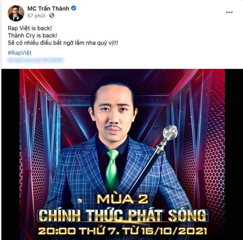 Tran Thanh tung anh Rap Viet, nhieu nguoi tranh thu hoi sao ke-Hinh-2
