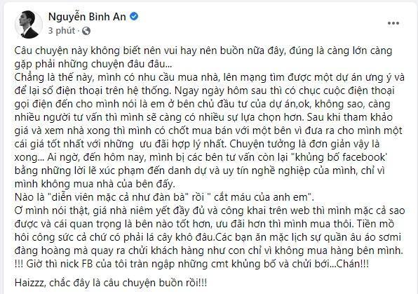 "Ly do dien vien Binh An bi chui ""nhu dan ba"" khi mua nha-Hinh-2"