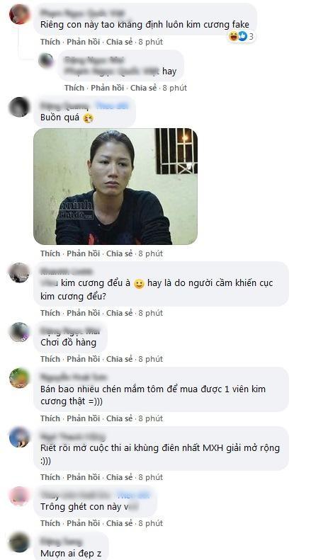 Trang Tran khoe kim cuong, lap tuc bi