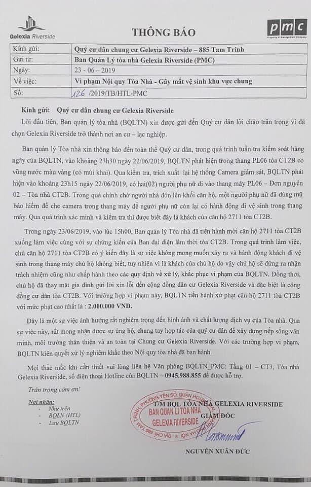 Vu te bay trong thang may: Cu dan toa nha khong dong y muc phat 2 trieu dong-Hinh-2