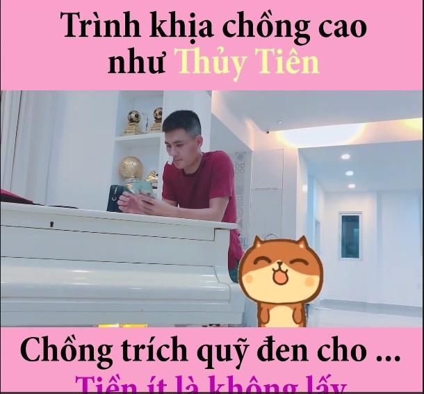 Che Cong Vinh cho tien it, Thuy Tien lam viec nay de 'dan mat'