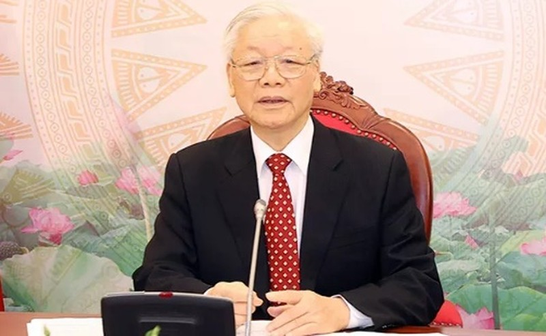 Tong Bi thu, Chu tich nuoc Nguyen Phu Trong dien dam voi ong Tap Can Binh-Hinh-2