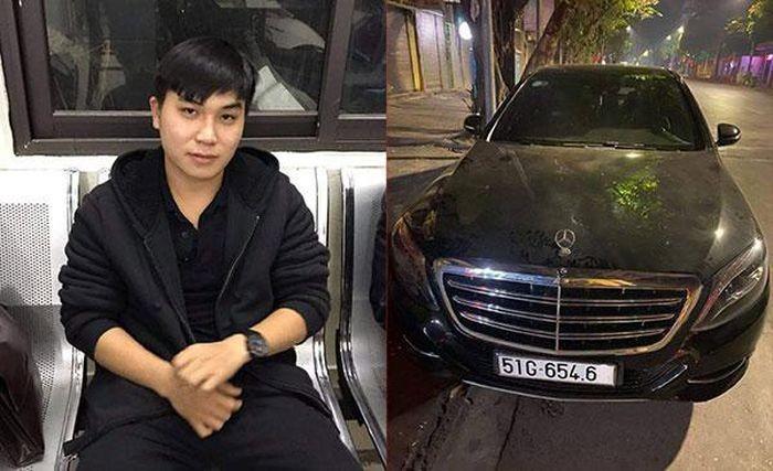 Oto Mercedes S500 bi tam giu de dieu tra vi 'xe khong trung bien so'