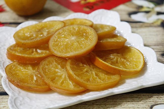 Cách làm mứt cam dẻo chua ngọt ăn chống ngấy ngày Tết