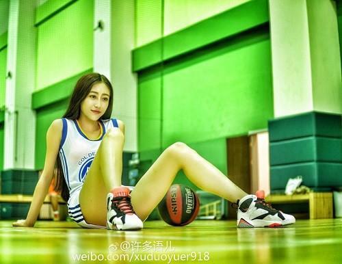 """Nu hoang phong gym"" xu Trung khoe voc dang nong bong o phong tap-Hinh-8"