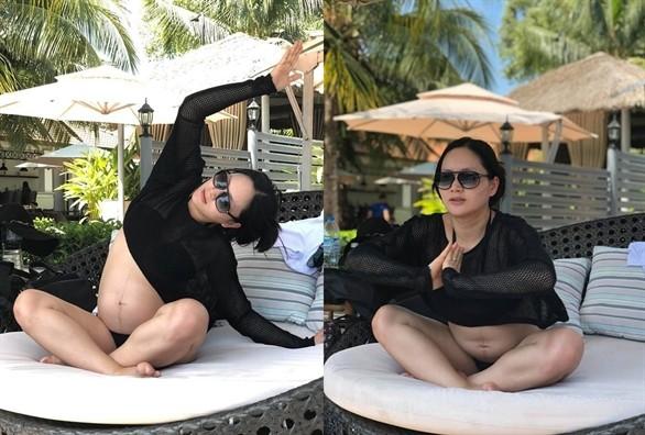 Vo Ha Tram va cac sao Viet mang bau vuot mat van cham tap the thao-Hinh-5