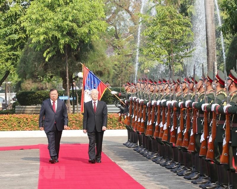 Le don trong the Tong bi thu, Chu tich nuoc tai thu do Vientiane-Hinh-3