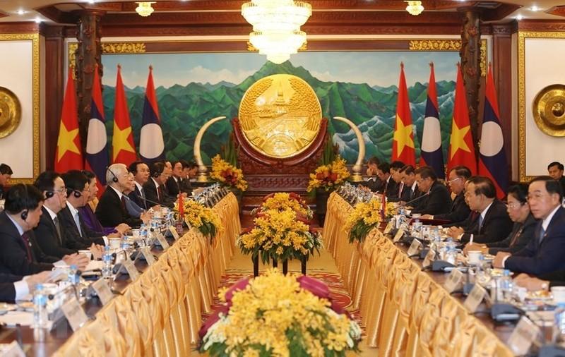 Le don trong the Tong bi thu, Chu tich nuoc tai thu do Vientiane-Hinh-4