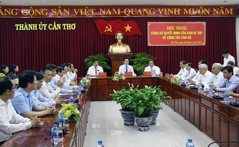 Thu truong Le Quang Manh lam Pho bi thu Thanh uy Can Tho