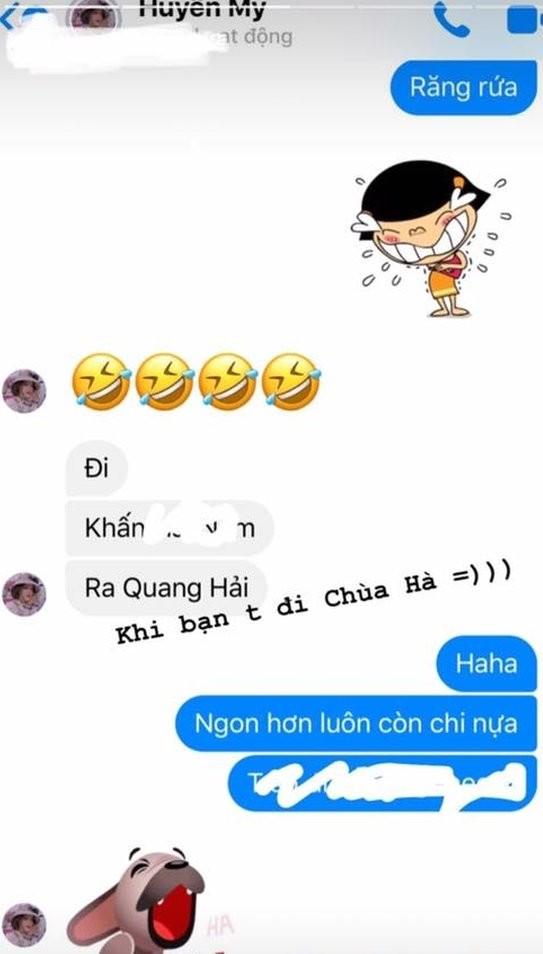 Khoe di chua cau duyen, Huyen My cong khai nhac ten Quang Hai-Hinh-2