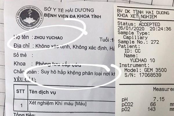 BV Nhi TU dang cach ly be trai Trung Quoc nghi nhiem virus corona