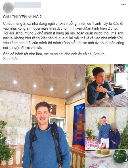 Bi hai chuyen khach Tay du lich Viet Nam dip Tet: Go cua nha dan xin an