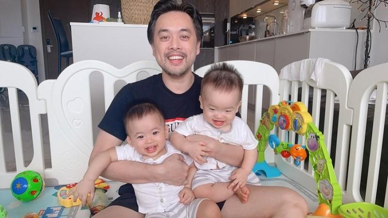 Duong Khac Linh hao hung khoe anh cung hai con trai va cai ket