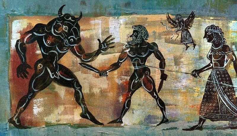 Truyen thuyet hai hung ve quai thu Minotaur trong than thoai Hy Lap-Hinh-6
