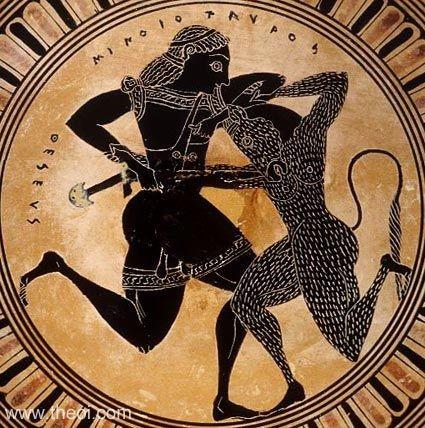 Truyen thuyet hai hung ve quai thu Minotaur trong than thoai Hy Lap-Hinh-9