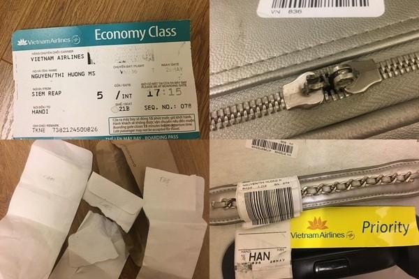 """Khach hang Vietnam Airlines """"to"""" bi be khoa hanh ly, do dac xao tron"""