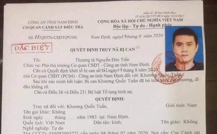 Truy na dac biet doi voi cuu cau thu bong da Nam Dinh