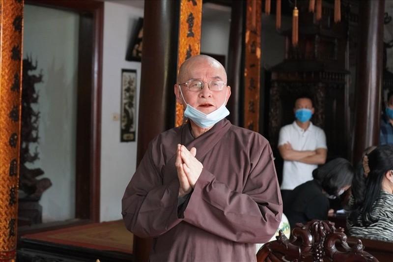 Thuong toa Thich Nguyen Binh ve tru tri quan ly chua Trung Hanh tu 20/3