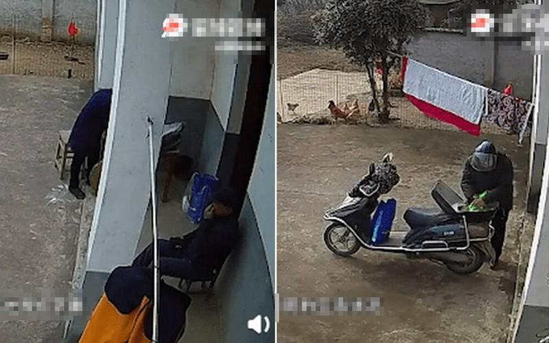 4 con gai di lay chong khong ve an Tet