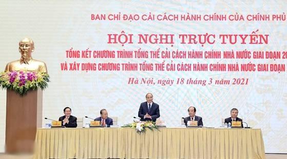 Thu tuong chu tri hoi nghi tong ket Cai cach hanh chinh nha nuoc