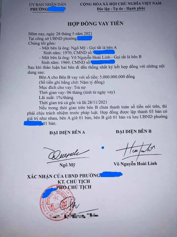 Thuc hu giay vay no 5 ty duoc cho la cua nghe si Hoai Linh-Hinh-2