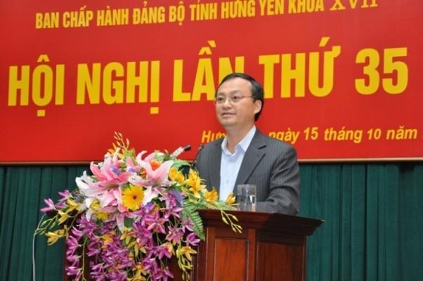 Bi thu tinh Hung Yen giu chuc Tong Giam doc Dai Tieng noi Viet Nam