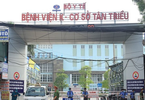 Hom nay, Benh vien K chinh thuc do phong toa