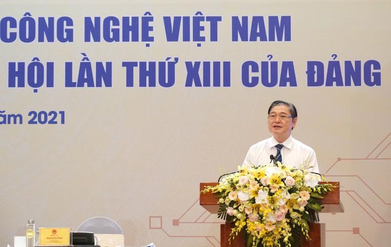Chu tich VUSTA Phan Xuan Dung phat bieu be mac Hoi nghi toan quoc