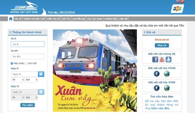 Canh bao nhieu website gia dang ban ve tau Tet Dinh Dau