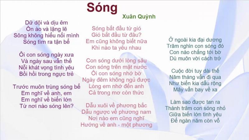 Song cua Xuan Quynh lay cam hung tu bai bien nao?-Hinh-4