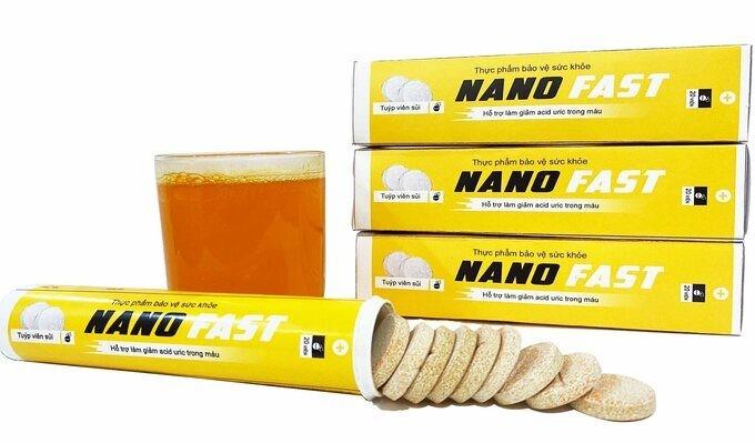 Quang cao lao, TPBVSK Nano Fast 7 lan bi Cuc ATTP canh bao