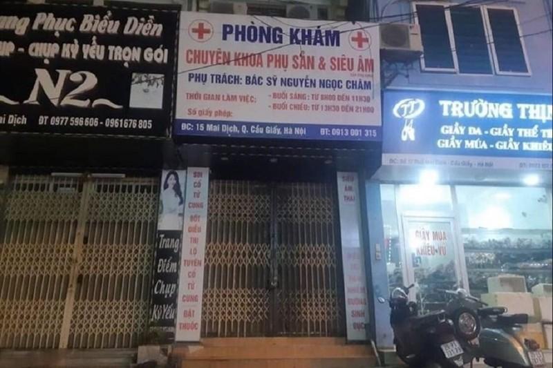 BYT chi dao lam ro vu thai phu tu vong tai phong kham Ha Noi