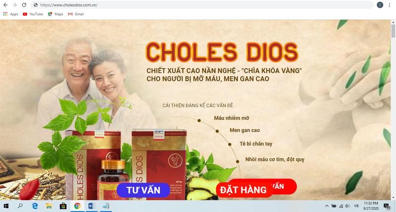 Canh bao TPBVSK Choles Dios quang cao lao, lua nguoi tieu dung-Hinh-2