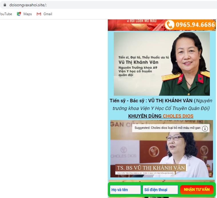 Canh bao TPBVSK Choles Dios quang cao lao, lua nguoi tieu dung-Hinh-3