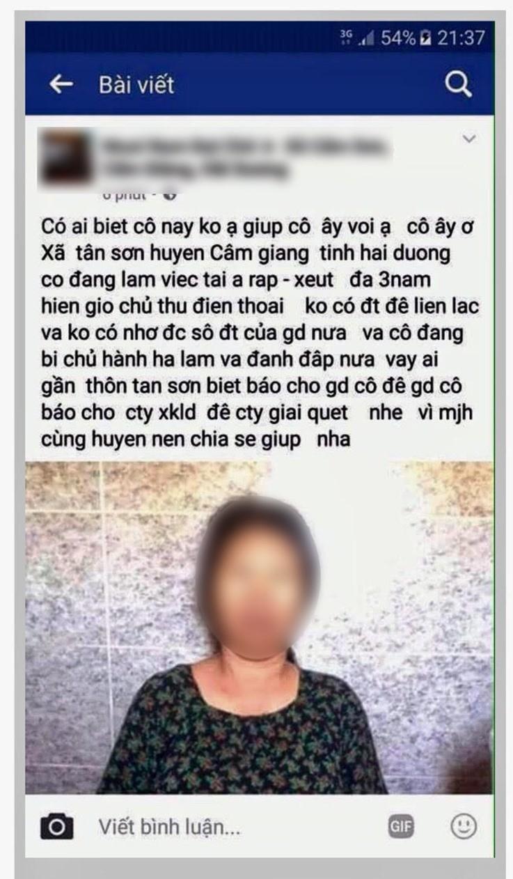 """Hoang hon, so hai o """"thien duong"""" xuat khau lao dong"""