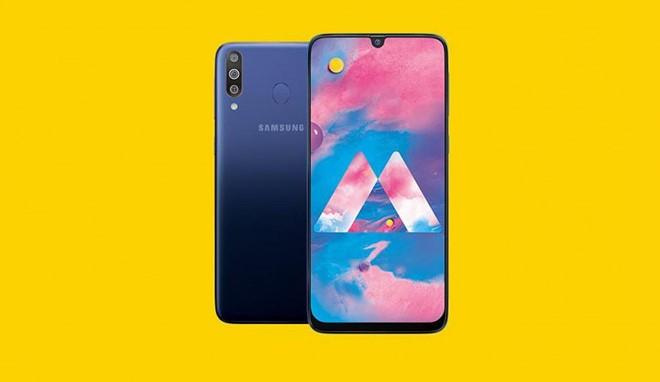 Samsung Galaxy M30 ra mat: 3 camera, pin 5.000 mAh, gia sieu re