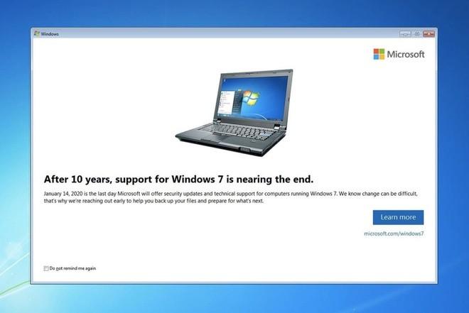 Ai huong loi lon khi Windows 7 bi khai tu?