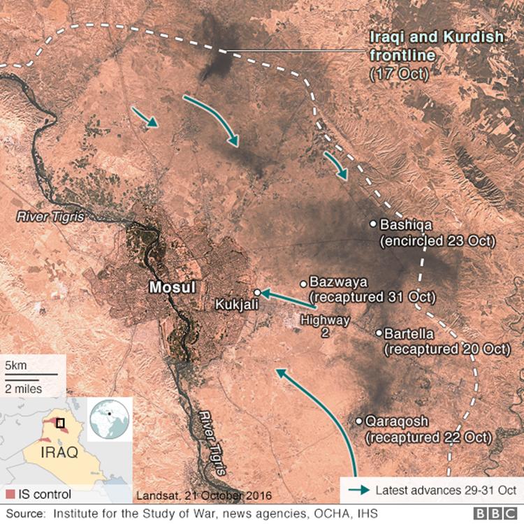 Quan doi Iraq tien danh IS ben trong thanh pho Mosul