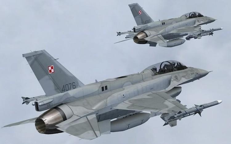 F-16 cua Ba Lan da don dau may bay cho Bo truong Shoigu
