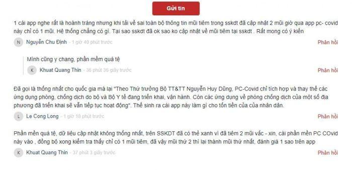 Bo TT&TT ly giai 'loi' cap nhat thong tin tren ung dung PC-COVID