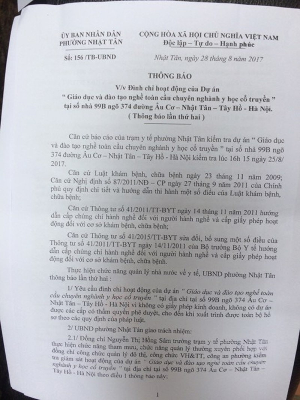 UBND phuong Nhat Tan thong tin vu phong vien bi hanh hung