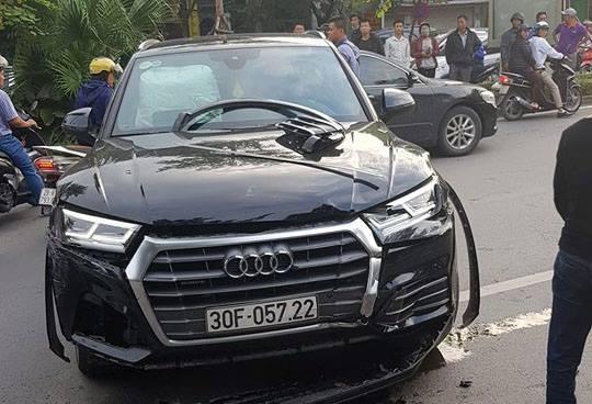 Cong an noi gi ve thong tin tai xe Audi Q5 say ruou gay tai nan?