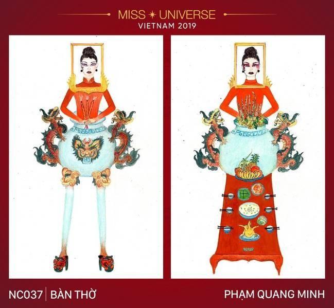 Trang phuc 'Ban tho' cua Hoang Thuy lot top binh chon tai Miss Universe-Hinh-2